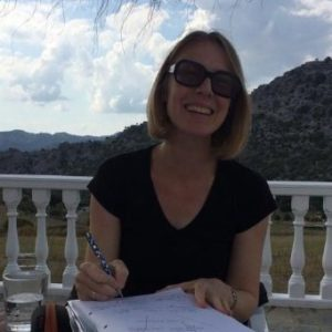 Hello! I'm Rebecca - freelance writer and language teacher. Although I'm originally from Bristol, U.K., where I currently live, I spent nearly half my life (so far) in Spain. Here I am in the Sierra de Cadiz in the Andalusian mountains..