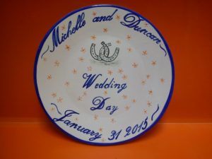 weding day plate