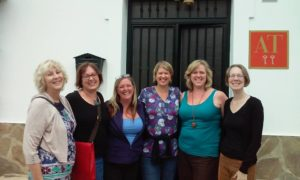Our lovely guests from the writing retreat 2015