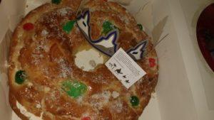 Roscon de Reyes handmade at La Panaderia San Anton in Benaocaz