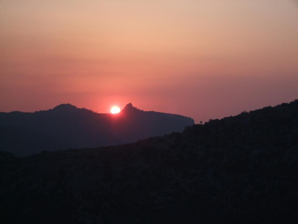 Sunset in the Andalusian mountainss